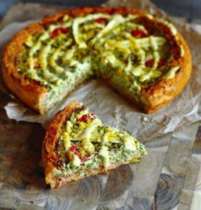 deep dish pizza quiche vegan 1