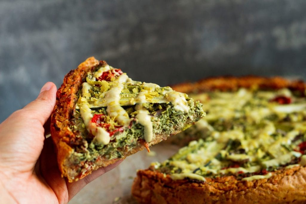 deep dish pizza quiche vegan 5
