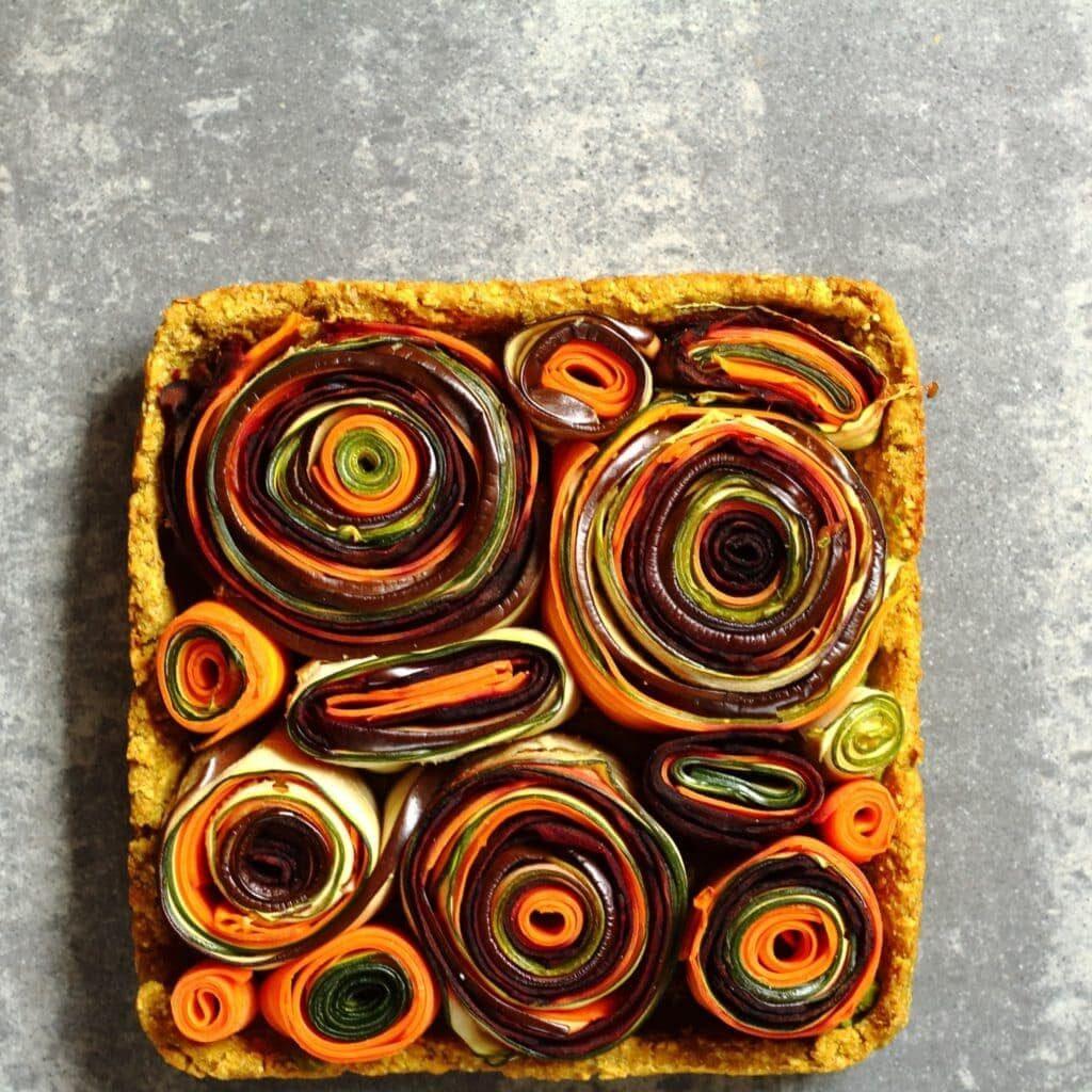 vegetable roulade tart
