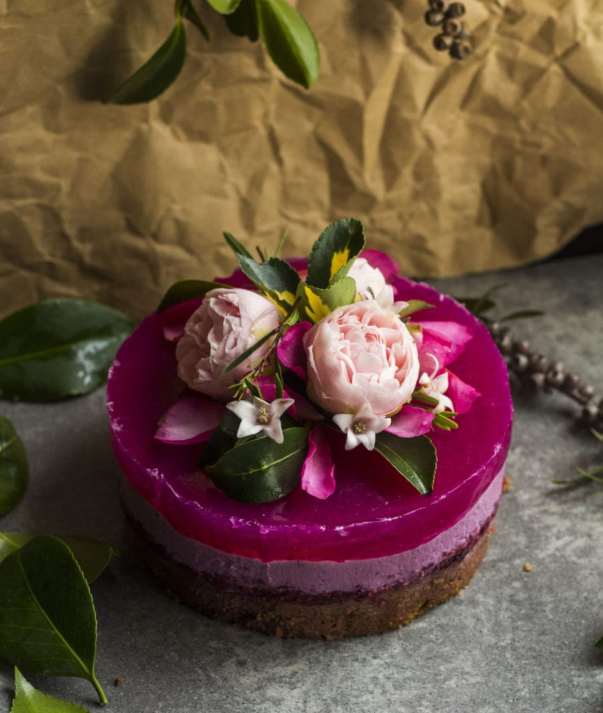 pitaya layer cake vegan 2