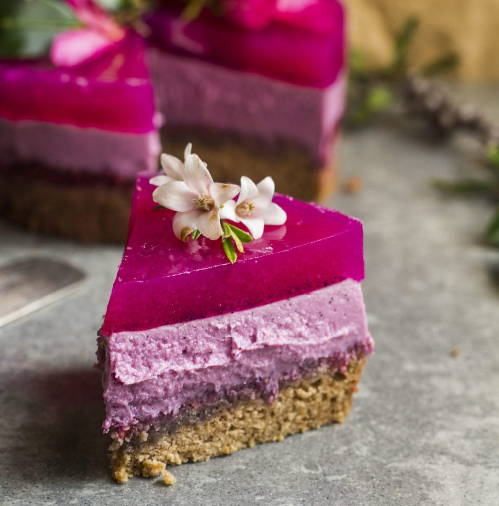 pitaya layer cake vegan 4