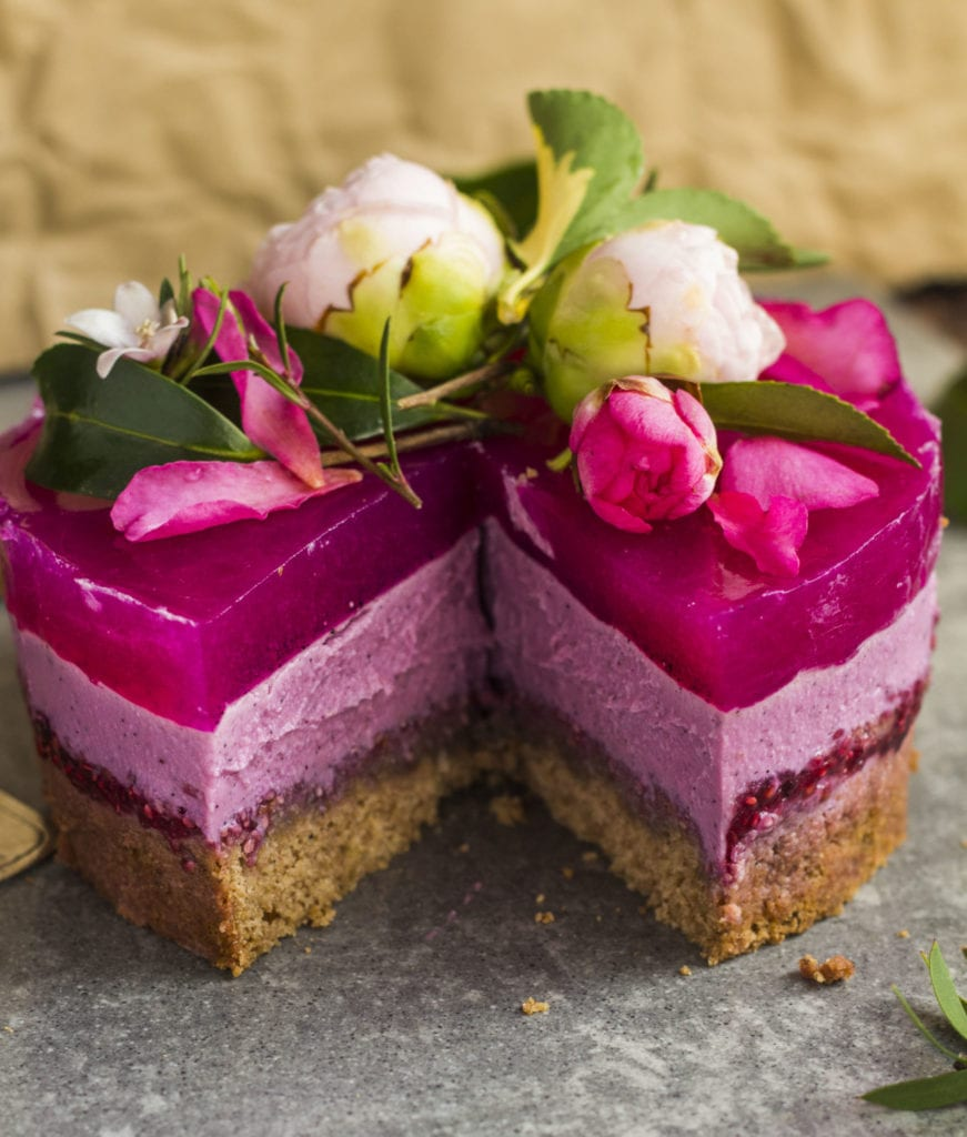pitaya layer cake vegan 5