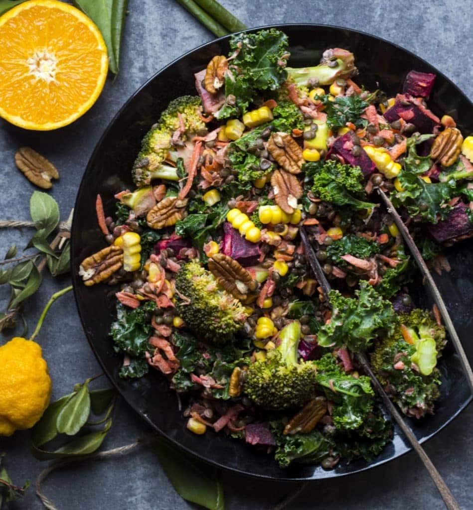 winter beetroot lentil salad 1