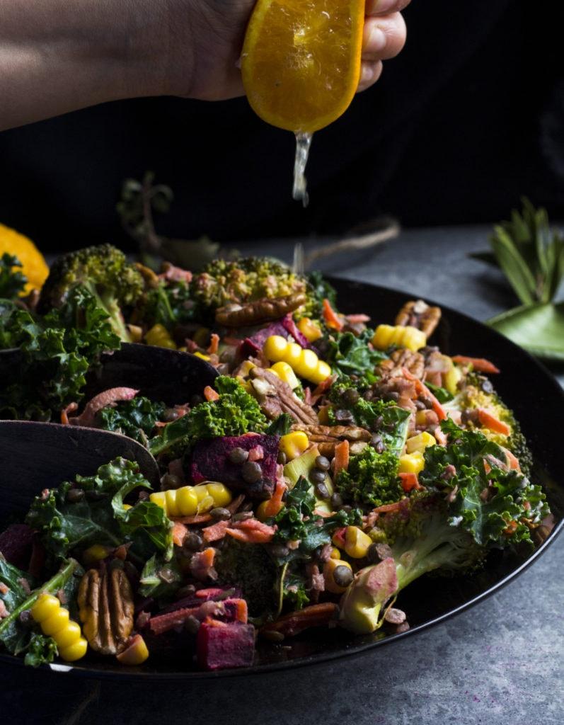 winter beetroot lentil salad 2