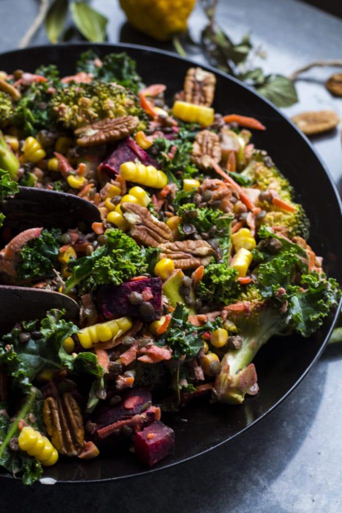 winter beetroot lentil salad 3
