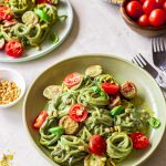 Basil alfredo pasta (vegan)