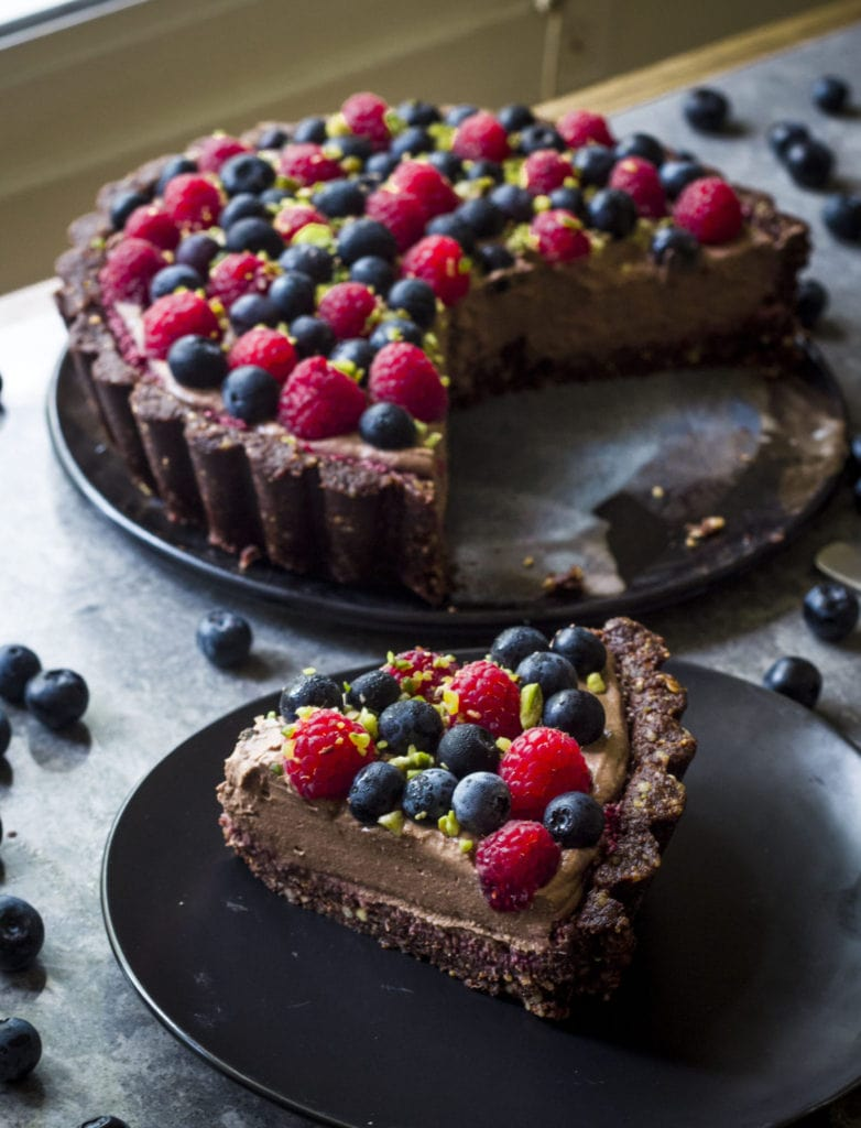 Backlight image of Vegan Chocolate Mousse Pie Tart