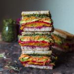 Rainbow roast vegetable sandwich