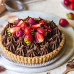 Coffee chocolate ganache tart