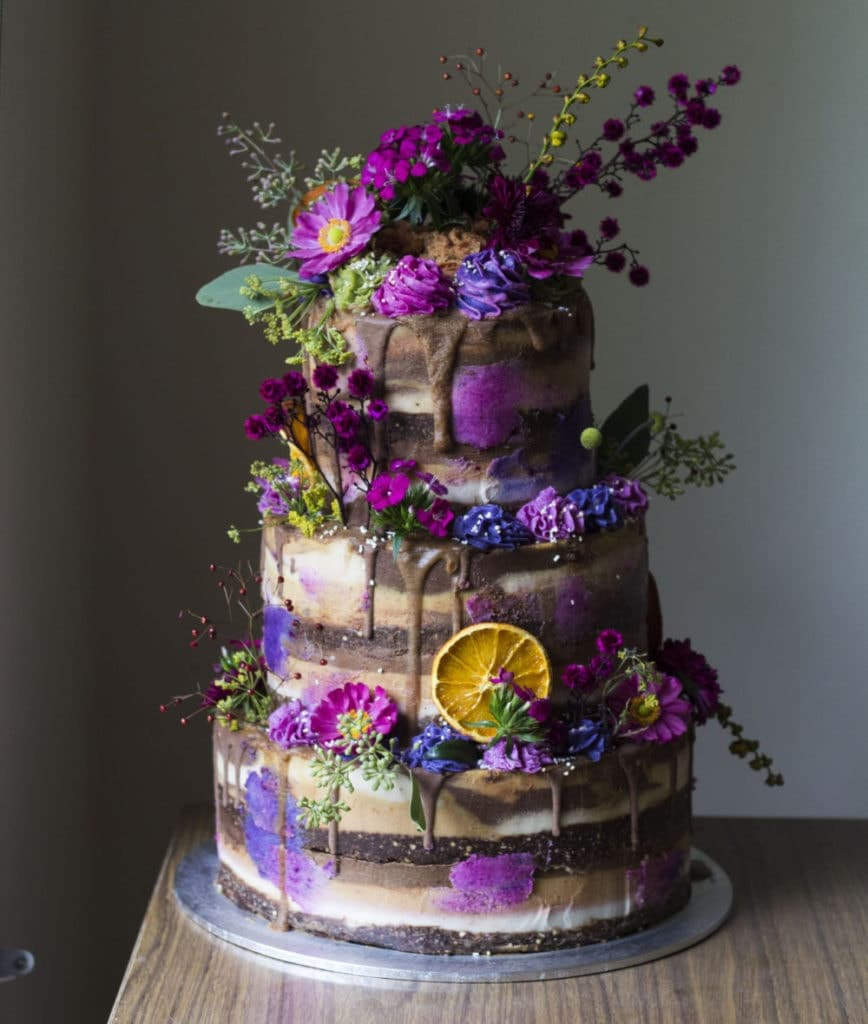 Vegan wedding cake, proving how I get paid as an Instagram food blogger