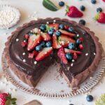 Chocolate Avocado Mousse Tart