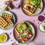 Baked Oatmeal Waffles (vegan)