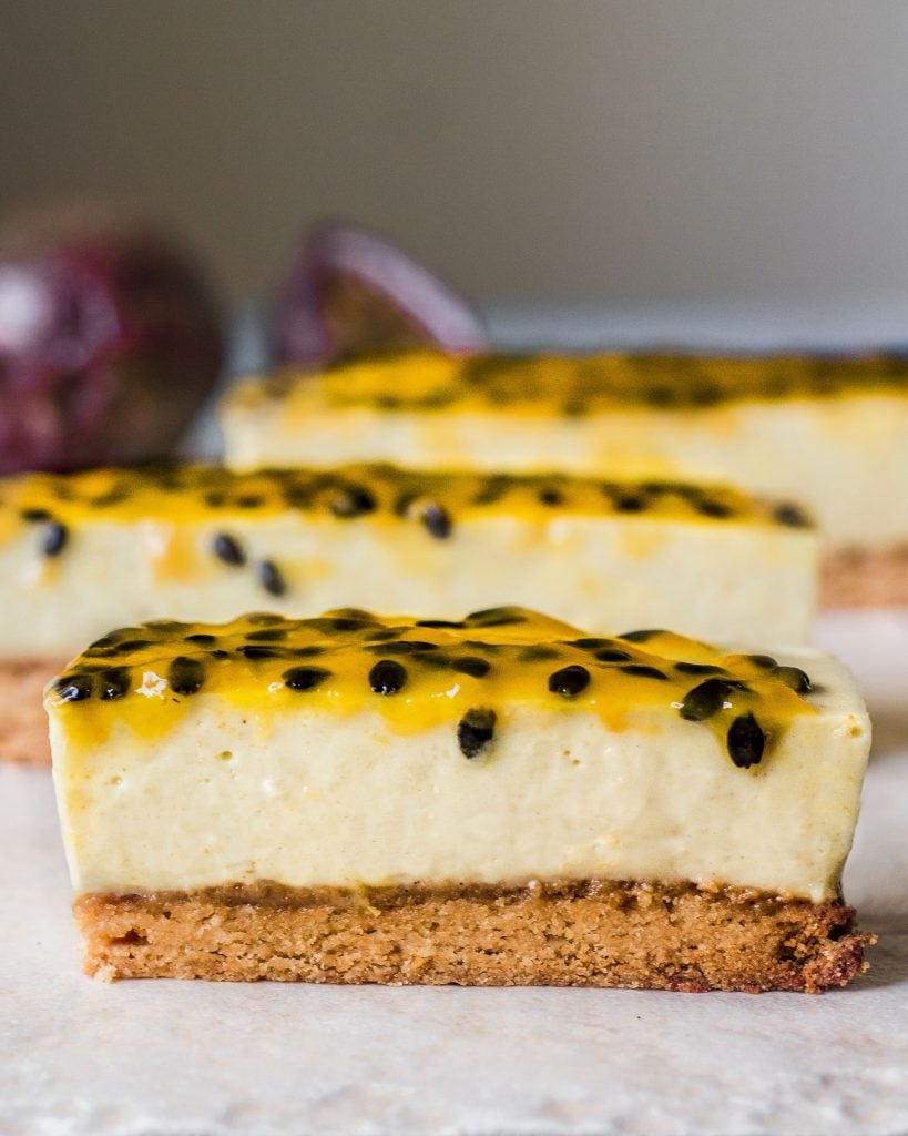 single vegan passionfruit vanilla bar