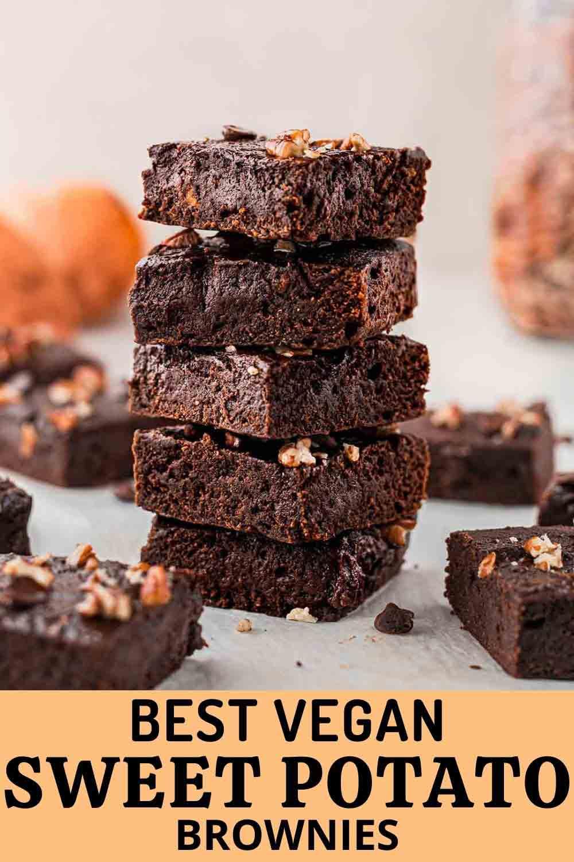BEST Sweet Potato Brownies (vegan + real chocolate)