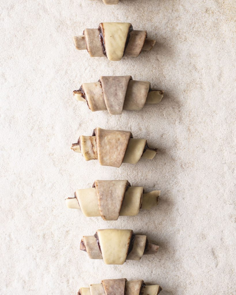 image of vegan chocolate rugelach made using method 2