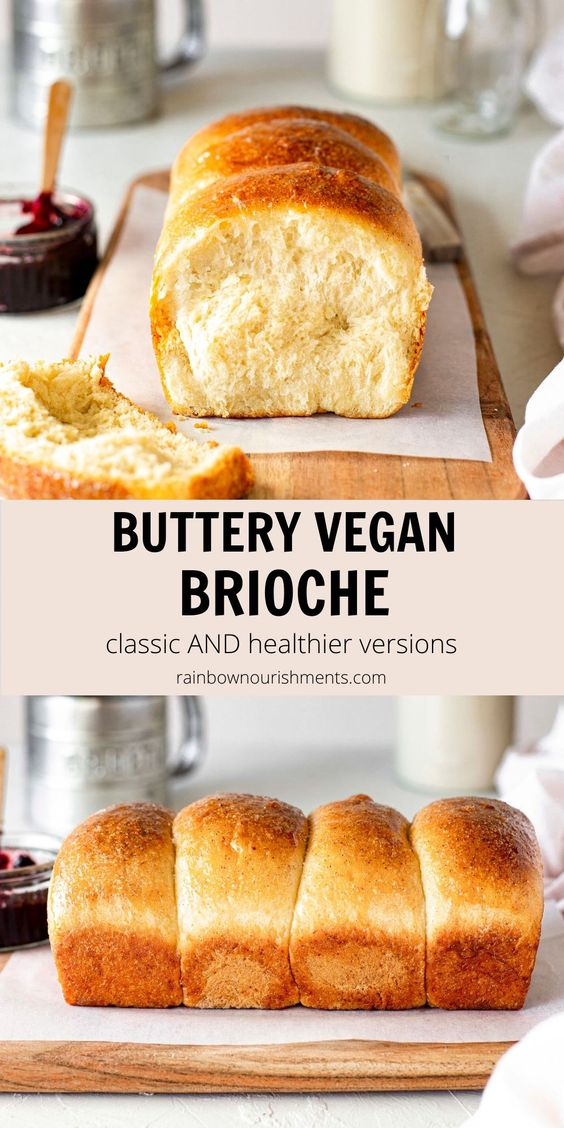 Buttery Vegan Brioche (classic and healthier options)