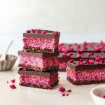 Unbaked Vegan Raspberry Slice