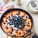 Easiest Baked Vegan Blueberry Pancake
