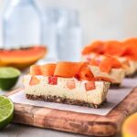 Vegan Papaya Lime Bars
