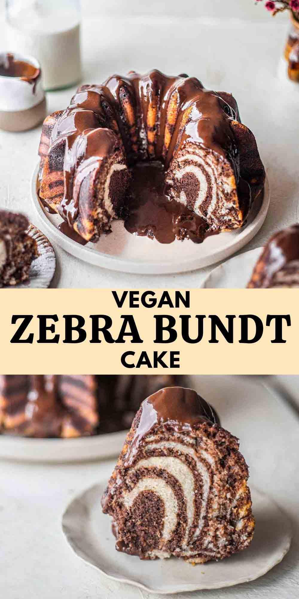 Vegan Zebra Bundt Cake (Vegan Marble Cake)