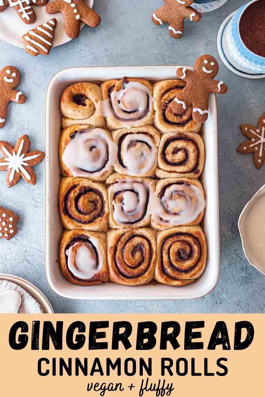 Vegan Gingerbread Cinnamon Rolls