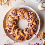 Blueberry and Almond Christmas Bread Wreath Recipe