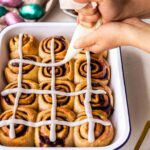 Hot Cross Cinnamon Rolls