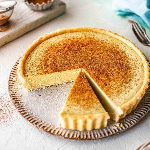vegan custard tart
