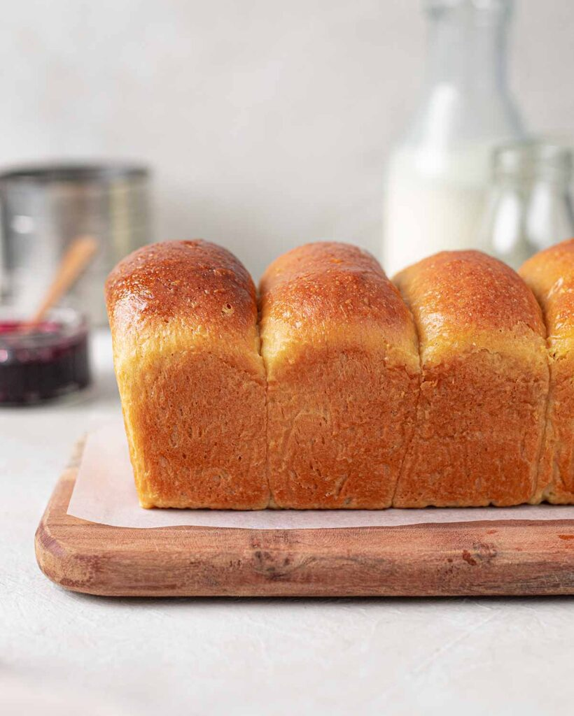 Side image of the vegan french bread loaf